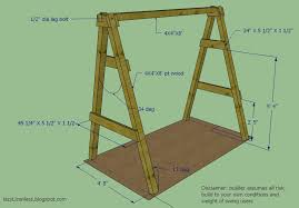 Plans For Swing Frame Ana White Swing Set Diy Projects