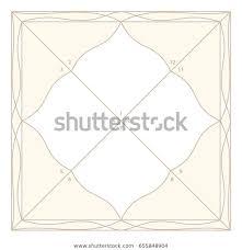 Vedic Astrology Diamond Form Chart Template Stock Vector