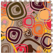 floorageous it tile smooth retro 70s 1 embutido 1 20 in x 20 in vinyl tile interlock multi purpose floor 6 tile 16 70 sq ft per carton 105 19