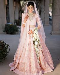 Light Pink Indian Wedding Dress Getting Married In The Day Here Are Our Favorite Bridal
