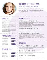 Purple Cv A Website Photo Gallery Examples Fancy Resume Templates ...