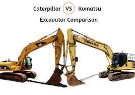 Komatsu Vs Caterpillar Excavator Comparison Machines4u