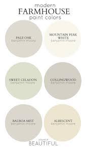 farmhouse paint colorsFarmhouse Paint Color Palettes  Favorite Paint Colors Blog