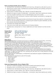 Scrum Master Resume Resume Templates