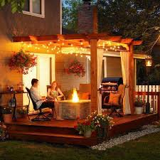 26 jaw dropping beautiful yard and patio string lighting ideas for a small heaven homesthetics backyard landscaping ideas 16