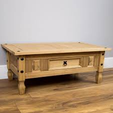 Mexican Pine Coffee Table Corona Coffee Table With Drawer Console Table Mexican Pine