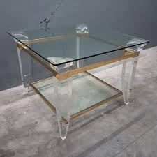 large size of lucite brass and glass coffee table 1980s for at pamono anti square