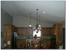 vaulted kitchen ceiling track lighting sloped 1024x768
