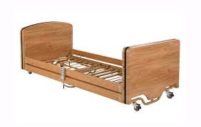 picture of elite 4 section low height bed including full length wooden side rails