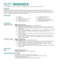 Resume Special Ed Resume