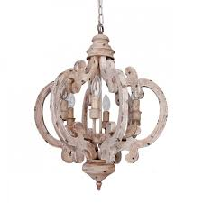 more views 6 light wooden chandelier antique white