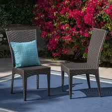 giunta outdoor wicker patio dining chair set of 2