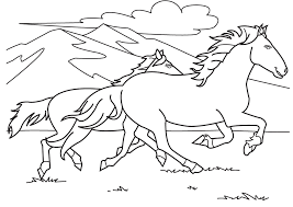Small Picture cute cartoon horse coloring pages horses in the stable horses in