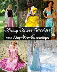 disney dress tutorials for not so grownups