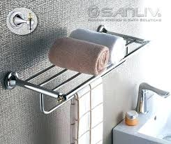 towel holder ideas for small bathroom. Small Towel Rack Wall Mounted Stainless Steel Swing Bathroom Holder Ideas For