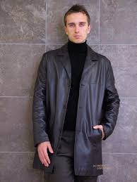 higgs leathers silas dark brown long leather jackets for men