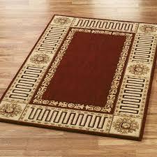 greek key area rug