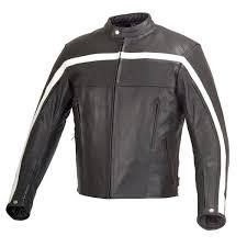men motorcycle biker old school armor leather jacket black wicked b9119 xelement men s