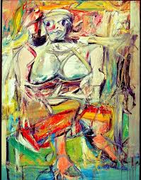woman i by willem de kooning painted in 1952 when interviewed by a journalist he