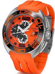 locman mens mare titanium water resistant watch orange 138or locman mens mare titanium water resistant watch orange 138or