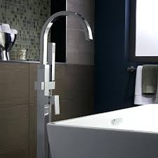 faucets for freestanding tubs tub fillers contemporary square floor mounted bathtub faucet satin nickel wall mounted