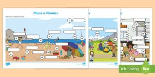 Our free phonics worksheets are colors, simple, and let kids understand phonics in a natural way through fun reading and speaking activities. Phase 4 Phonics Picture Activity Sheets Teacher Made