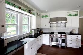 dark granite countertops with light cabinets kitchen white black brown laminated wooden island grey modern color