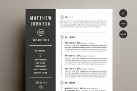 Resume Cover Letter Template Templates Creative Market Amazing