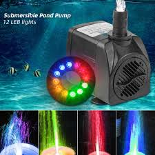 Fountain Pump With Led Light Details About 12 Led Lights Electric Fountain Submersible Water Pump For Garden Pond Pool Disp