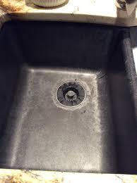 hard water stains off granite sink