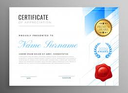 Certificate Of Appreciation Templates Free Download Modern Certificate Of Appreciation Template Design Vector Free