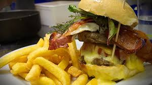 Hugh Burger ; cheese, bacon, chips - Picture of The Craypot ...