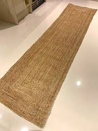 natural 100 jute reversible eco friendly heavy chunky braided rugs runner xs xl 2