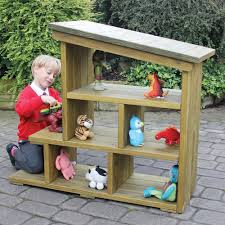 outdoor wooden play house and garage