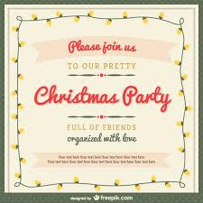 Free Christmas Invitation Template Christmas Party Invitation Template With Ornaments Free Vector