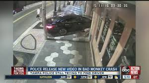 new release of carTampa PD search for driver of car that crashed into Ybor City bar