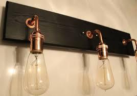 copper vanity lightture brushed bathroom lights finish wall rustic lighting cool vintage light fixture uk um