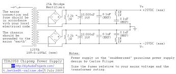 diy tda2050 hi fi chip amplifier chipamp tda2050 chipamp power supply schematic