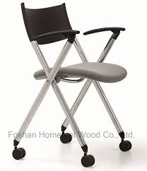 office chair with wheels. china modern office meeting visitor folding chair with wheels hf ch039c2 t