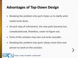 Top Down Design Advantages Top Down And Bottom Up Design Model