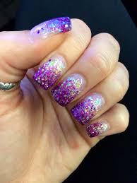 Pink Purple And Silver Nail Designs Nails Pink Purple Glitter Fade Love My Nail Guy Nails