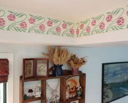 tutorial stenciled kitchen border
