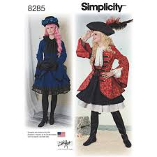 Costume Sewing Patterns Adorable SIMPLICITY SEWING PATTERN MISSES PIRATE GIRL STEAMPUNK COSPLAY