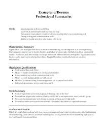 How To Write A Summary For A Resume Examples Awesome Professional Summary Resume Examples Sales On A Sample How To Write