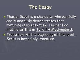 to kill a mockingbird by harper lee ppt  the essay