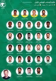إعلان قائمة المنتخب السعودي استعداداً لخوض التصفيات المشتركة المؤهلة إلى  كأسي العالم وآسيا