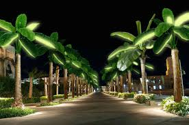 Palm Tree Lights Solar Solar Palms Bring Exotic Solar Lighting In The Shape Of A
