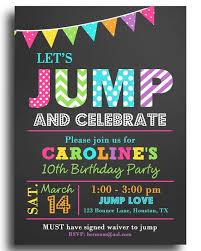 Birthday Invitations Printable Jump Invitation Printable Or Printed With Free Shipping Jump