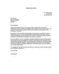 Letters Cover Letter Sample Internship Cover Letter Sample Pdf