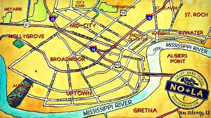 garden district new orleans walking tour map. New Orleans Map Garden District Walking Tour